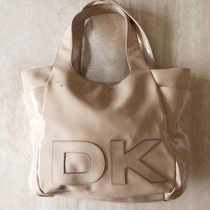 DKNY Large Tote Bag / Cream Patent
